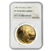 1987 W 1 oz $50 Proof Gold American Eagle NGC PF 70 UCAM