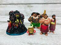 Official Disney Moana Movie Mini Figures Bundle Cake Toppers Maui