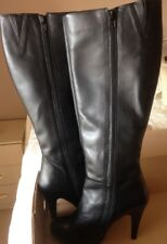 Black Leather BOOTS Knee Length Uk5 / Eu38 Faith Middleton by Debehams