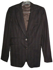 BURBERRY Womens Blazer Striped Wool Jacket Size 38 US 4