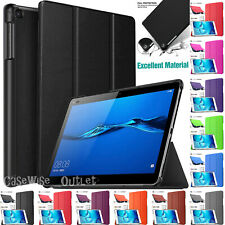 """Leather Magnetic Smart Cover Case Stand For Huawei MediaPad M3 Lite 10 (10.1"""")"""