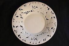 Used Pacific Rim Filigree Bowl Dish Plate. White Porcelain. Fruit & Birds Motif!
