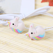 3.5mm Cute Unicorn Cartoon In-ear Headsets Earphones Headphones Earbuds Gifts
