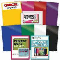 8 Rainbow VINYL ASSORTED SELECTION Sheets Adhesive Backed Transfer Paper