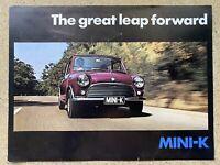 1970 British Leyland Mini-K original Australian sales brochure (1)