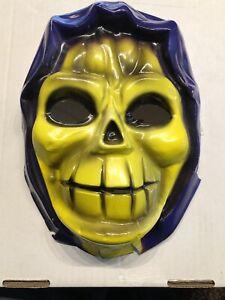 Vintage Mattel 1983 He-man MOTU Skeletor Costume Mask Like Ben Cooper Jotastar
