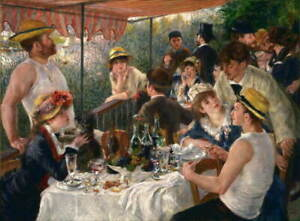 Auguste Renoir Luncheon of the Boating Party Poster Giclee Canvas Print