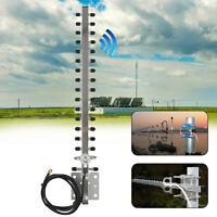 RP-SMA 2.4GHz 25dBi Directional Outdoor Wireless Yagi Antenna WiFi For Router VP