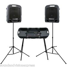 Peavey Escort 3000 MK2 300W Portable PA Speaker System + 7-Ch Mixer + FX + Stand