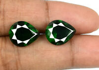 Colombian Green Emerald Gemstone Pair 7.10 Ct Natural Pear Cut AGSL Certified