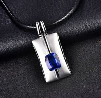 18ct White Gold Natural Untreated Flawless Tanzanite Pendant Retail £4000