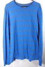 Mossimo Pullover L/S Shirt Size XL Athletic Fit Blue/Gray Mens