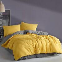 Yellow&Grey Luxury Bed Linen Bedding Set 3/4/5 Pcs Bed Sheet Duvet Cover Set