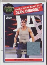 2015 WWE Heritage Dean Ambrose Money in the Bank mat relic