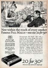 James Montgomery Flagg Cigarette Girl PALL MALL For Every Smoker 1924 Print Ads
