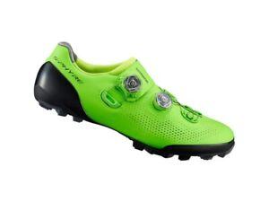 shimano S-PHYRE XC9 size 44.5 EU green mountain bike clipless shoes
