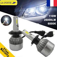 110W 26000LM H7 Phare LED Ampoule Light Headlight Kit 6000K Lamp Voiture Feux FR