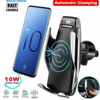 360°Rotate Wireless Auto Clamp Car Fast Charger Phone Holder Air Vent Mount 2019
