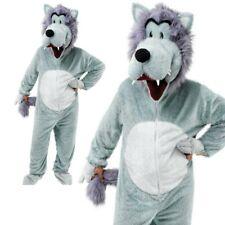 Big Head Wolf Costume Halloween Fancy Dress Mascot Riding Hood Animal Adults