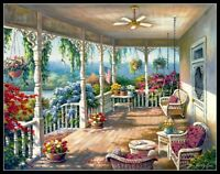 Spring Porch - Counted Cross Stitch Patterns Needlework for embroidery
