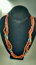 faux coral glass beads necklace Nice vintage Native American Navajo
