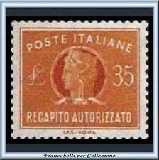 1974 Repubblica  L. 35 Recapito Autorizzato n. 14 **