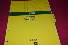 John Deere 12 & 14 Series Rotary Hoes Dealer's Parts Book Manual PANC