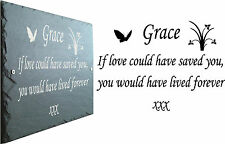 Memorial Slate Sign Plaque - Personalised for your loved one - Grave Marker