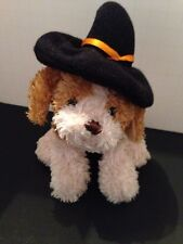 "Ganz Halloween Puppy Dog Mini Brown Witch Hat Plush Bean Bag 4"" Soft Spot EUC"