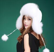 2210a88ffcdf0 Real Fur Russian Ushanka Trapper Hat Caps Winter Trooper 61053