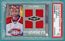 2010 UD Black Diamond Carey Price Game Used Jersey #QJ-CP PSA 7! Canadiens POP 1
