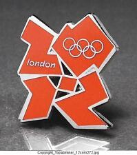 OLYMPIC PINS BADGE 2012 LONDON ENGLAND UK RARE CUTOUT LOGO DESIGN - ORANGE