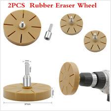 2Pcs Car Rubber Eraser Wheel 87mm Pinstripe Sticker Tapes Glue Adhesive Remove
