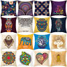 WO_ Mandala Elephant Heart Throw Pillow Case Sofa Cushion Cover Home Decor Newes