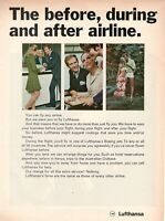 1969 Original Advertising' Lufthansa Germany Airlines The Before During And Aft