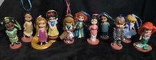 Disney Animator Christmas Ornament set Of 11 Ariel Snow White Mulan Tiana