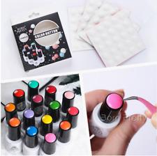 10Pcs BORN PRETTY Color Button UV Gel Polish Color Display White Silicone Adhesi