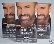 JUST FOR MEN TOUCH OF GRAY MUSTACHE&BEARD DARK BROWN/BLACK B-45/55 *3 LOT*