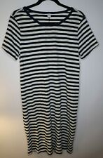 Old Navy Women's Dress - Blue Striped - Size Medium Tall - NWT