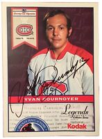 Yvan Cournoyer Montreal Canadiens Hockey LNH Signed Original Autograph Photo