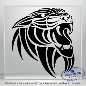 Jaguar Vinyl Sticker Decal Tiger Scary Puma Auto Car Bumper Window Truck Tablet