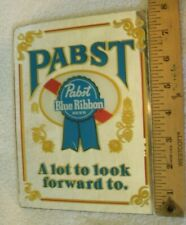 Vintage Pabst Blue Ribbon Beer Mirror Sign bar Pbr old collectible