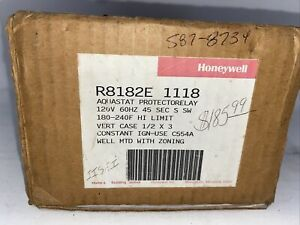 Honeywell R8182D1111 Triple Aquastat Protectorelay Controller Old Stock