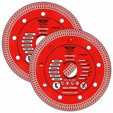 """2 x Mesh Turbo Diamond Clean Thin Cutting Discs For Grinder Tiles 125mm 5"""""""