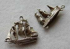 Vtg Vintage Sterling Silver Charm Lot Mayflower Type Clipper Ship Sailboat Boat