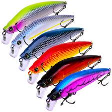 6pcs/lot Plastic Hard Minnow Fishing Lures CrankBait Hooks Bait Tackle 8.1cm/8g