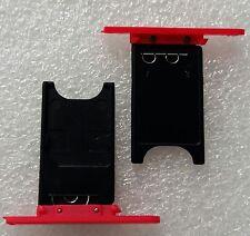SIM Card Supporto Holder Tray Adattatore Slitta ROSSO NOKIA LUMIA 800