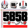 Adesivi casco misano 58 simoncelli stickers helmet tuning motocycle 9 pz.
