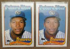 1989 Topps Tiffany +base Gary Sheffield Milwaukee Brewers #343 Baseball