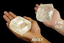 "Optical Calcite Rhomb 3"" 7-12 Oz Rocks and Minerals All Chakra Healing Crystals"